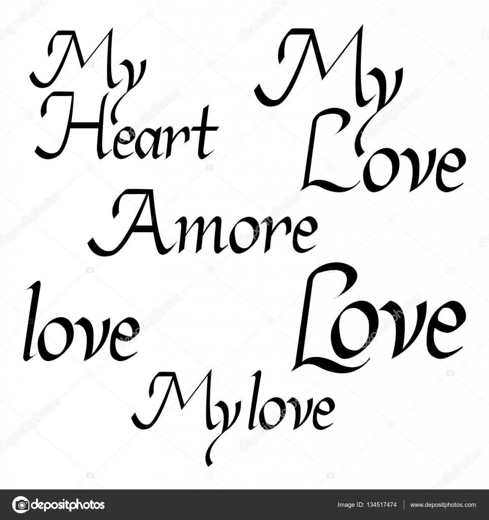 Citaten Liefde : Citaten valentine belettering liefde collectie hand