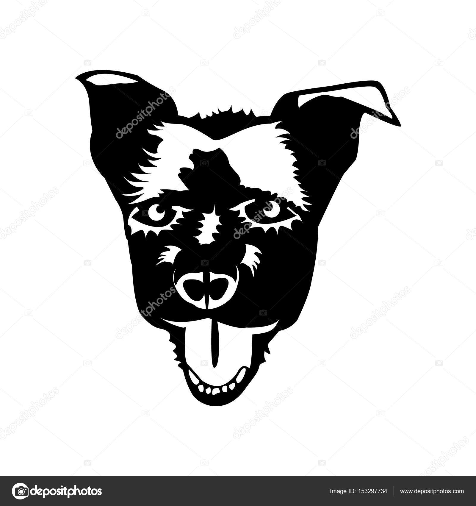 Happy Puppy Abstract Dog Logo Design Stock Vector