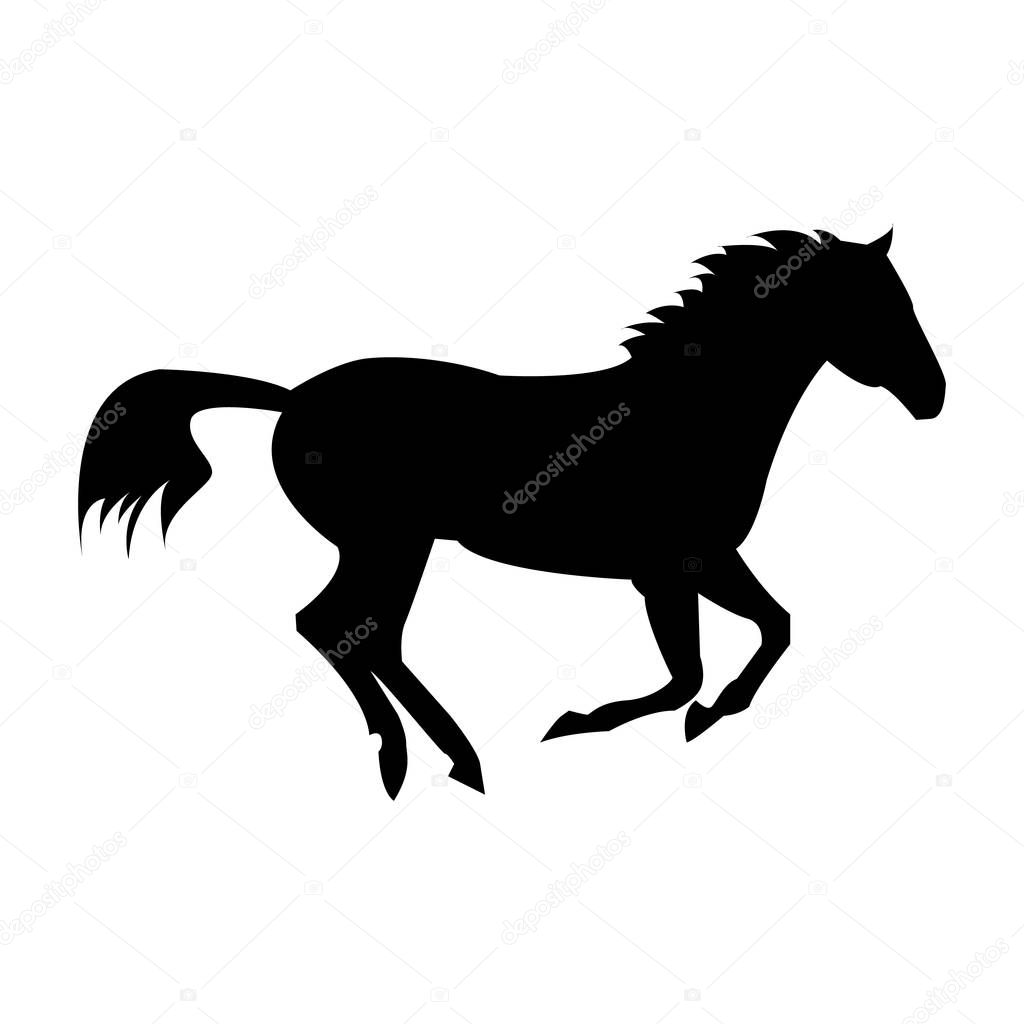 Running Horse Silhouette Isolated On A White Background Logo Horse Premium Vector In Adobe Illustrator Ai Ai Format Encapsulated Postscript Eps Eps Format