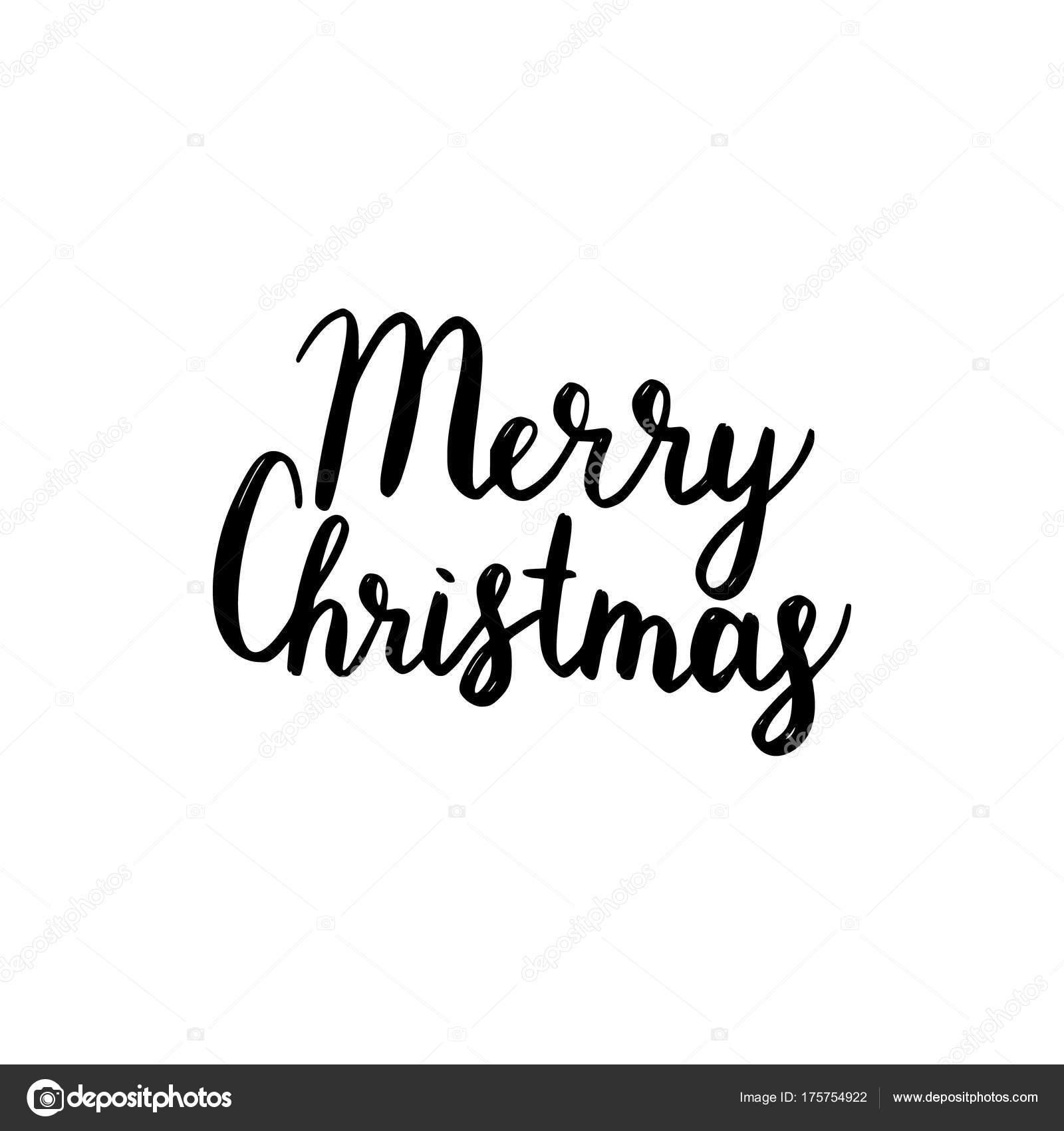 Frohe Weihnachten Albanisch.Frohe Weihnachten Pinsel Schriftzug Stockvektor