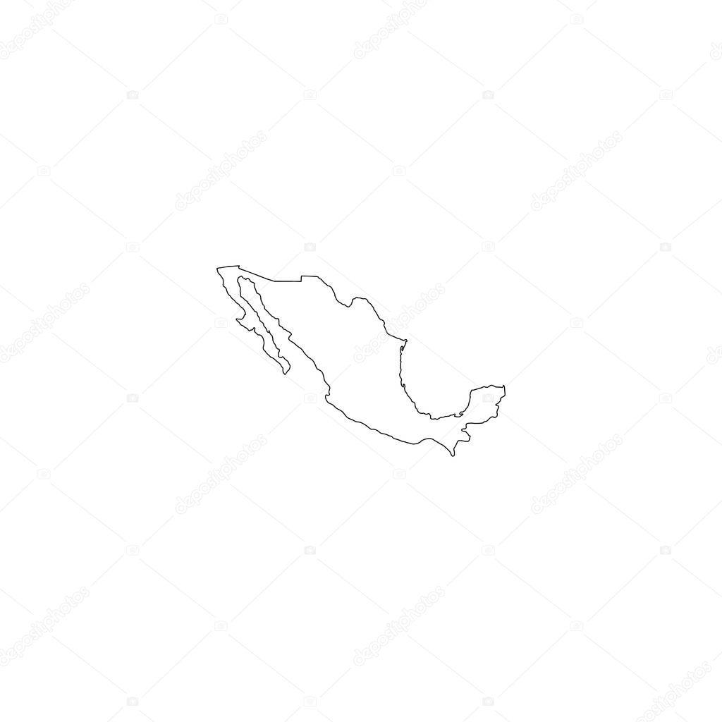 Mexico map icon