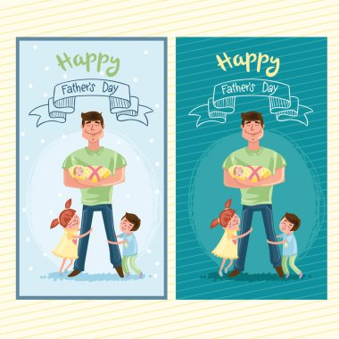 Happy Father day postcard