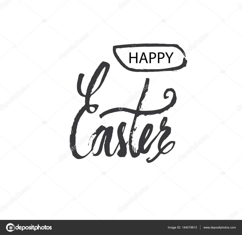 Feliz Pascua letras modernas. Mano escrita frases de semana Santa ...