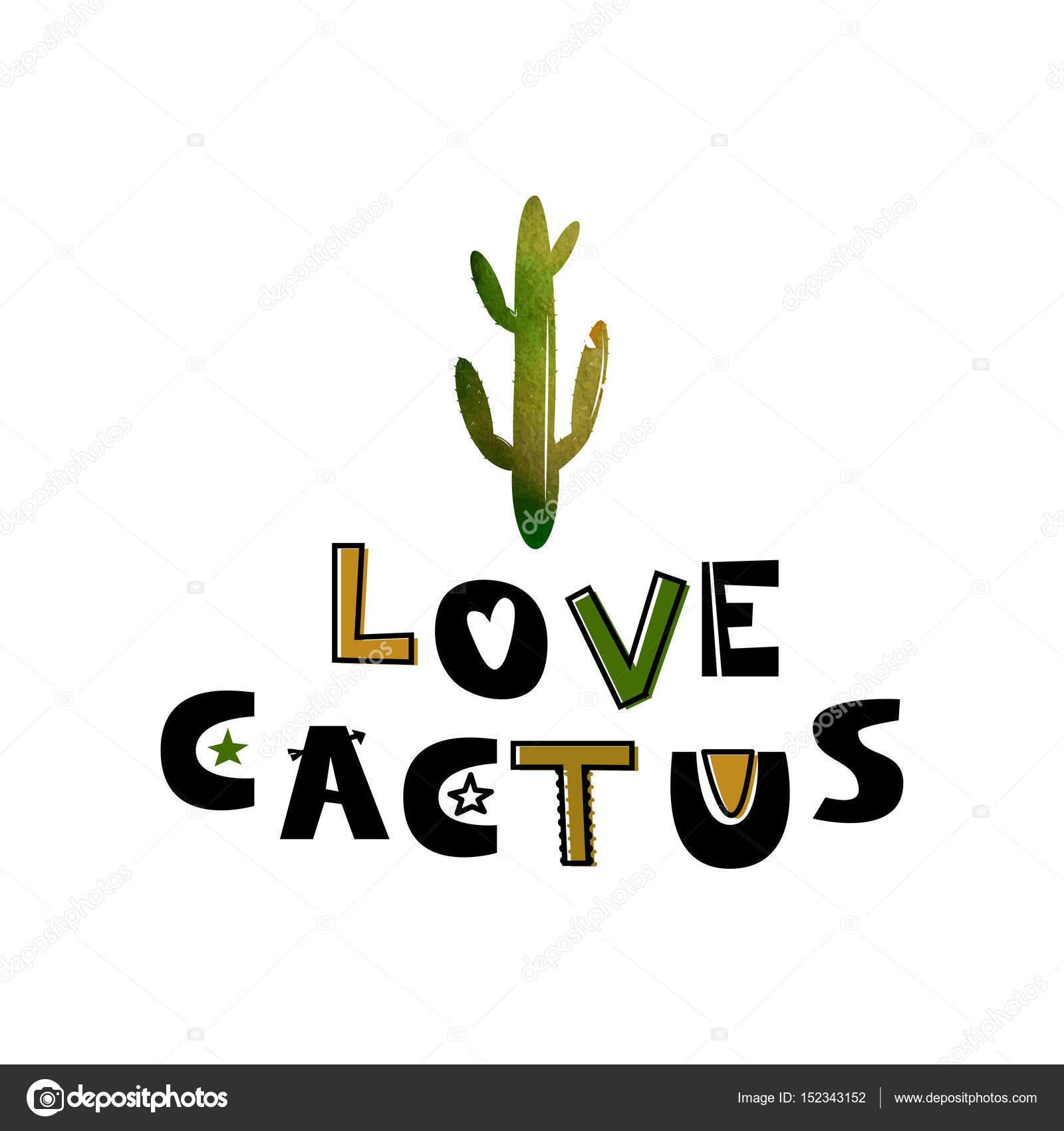Carte Avec Cactus Vert Et Le Texte Comme Un Cactus Illustrations De
