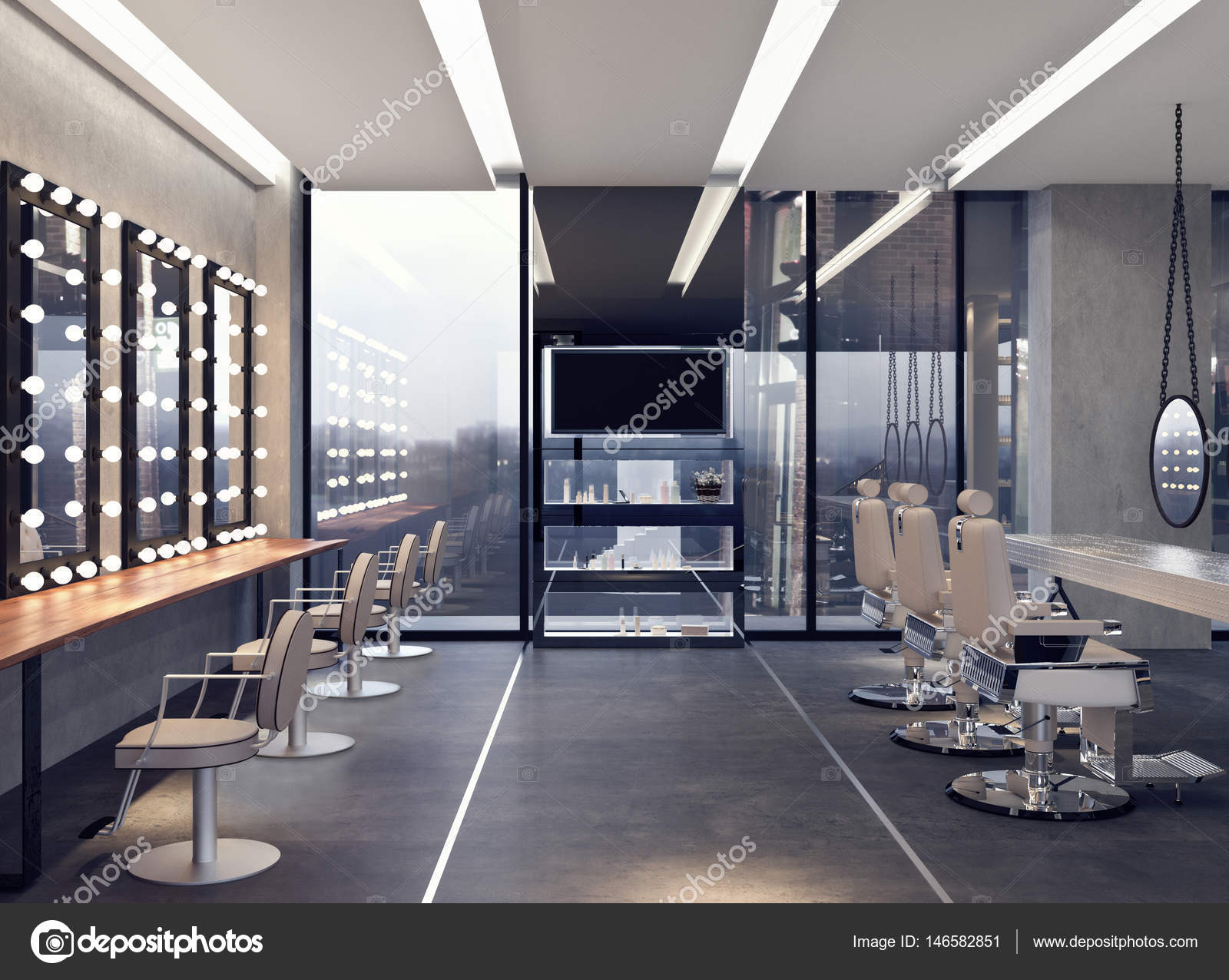 Modernes Interior Design des Salons — Stockfoto © hd3dsh #146582851