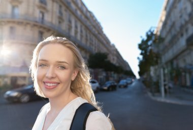 Beautiful young woman traveling