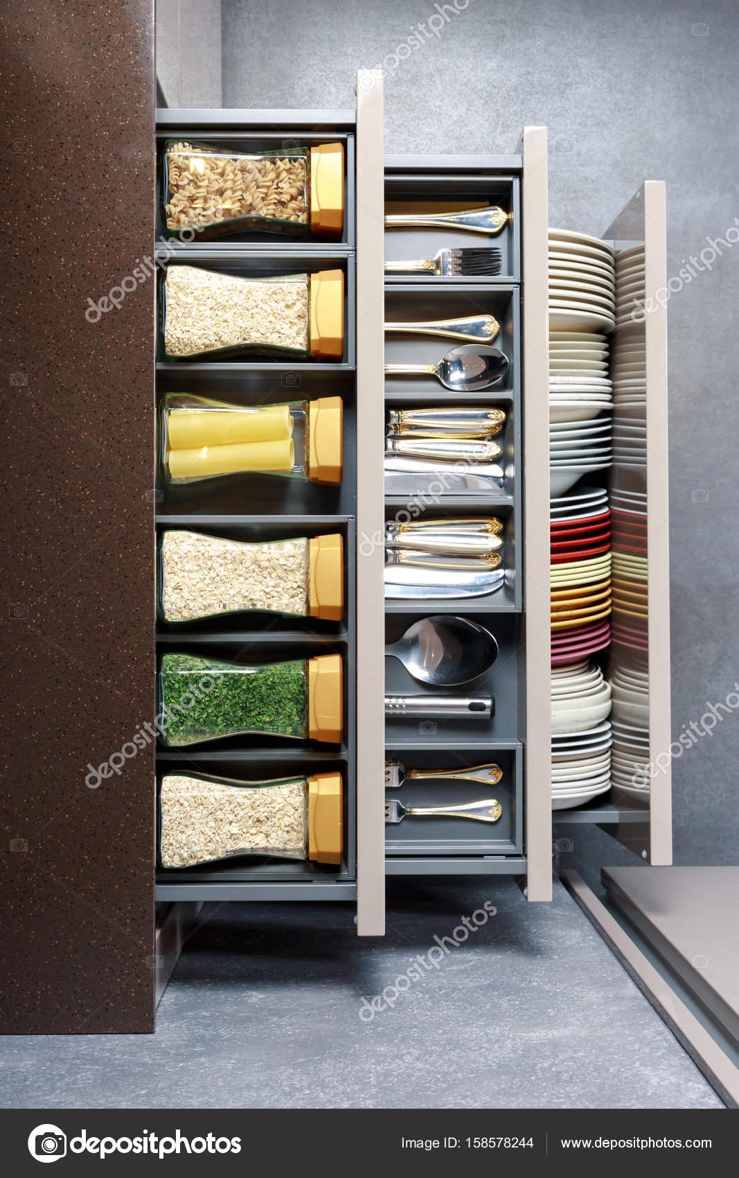 Bancada Da Cozinha Moderna Com Ingredientes Alimentares
