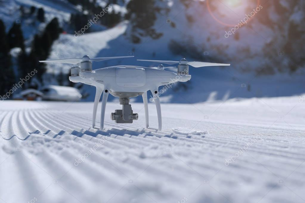 drone in Alpine mountain