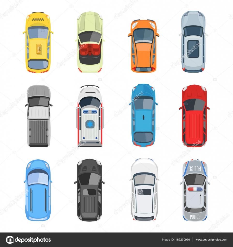 Set van auto bovenaanzicht vector set stockvector axsimen 162270950 - Voiture vue de haut ...