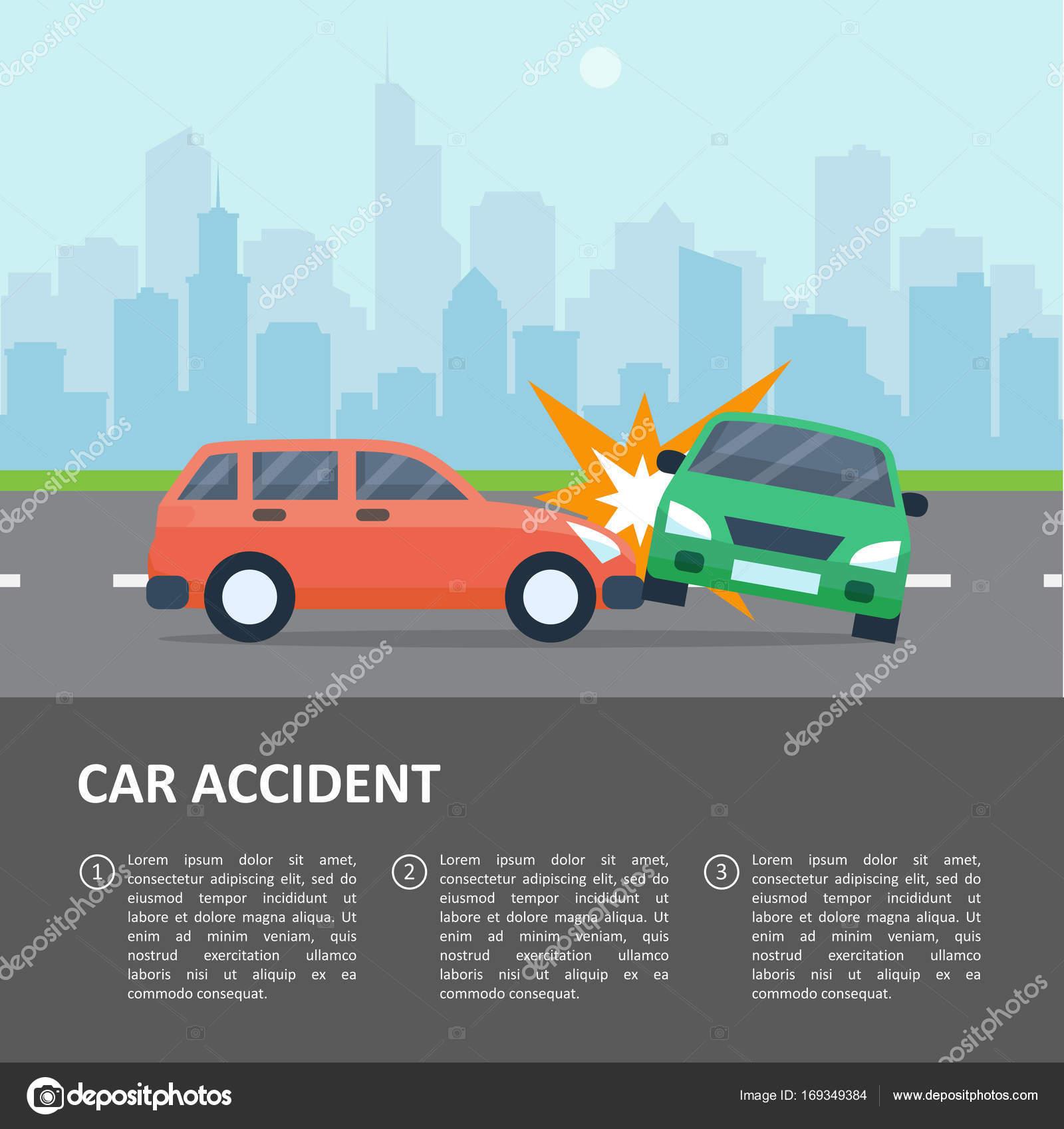 Auto Unfall Vorlage — Stockvektor © Axsimen #169349384
