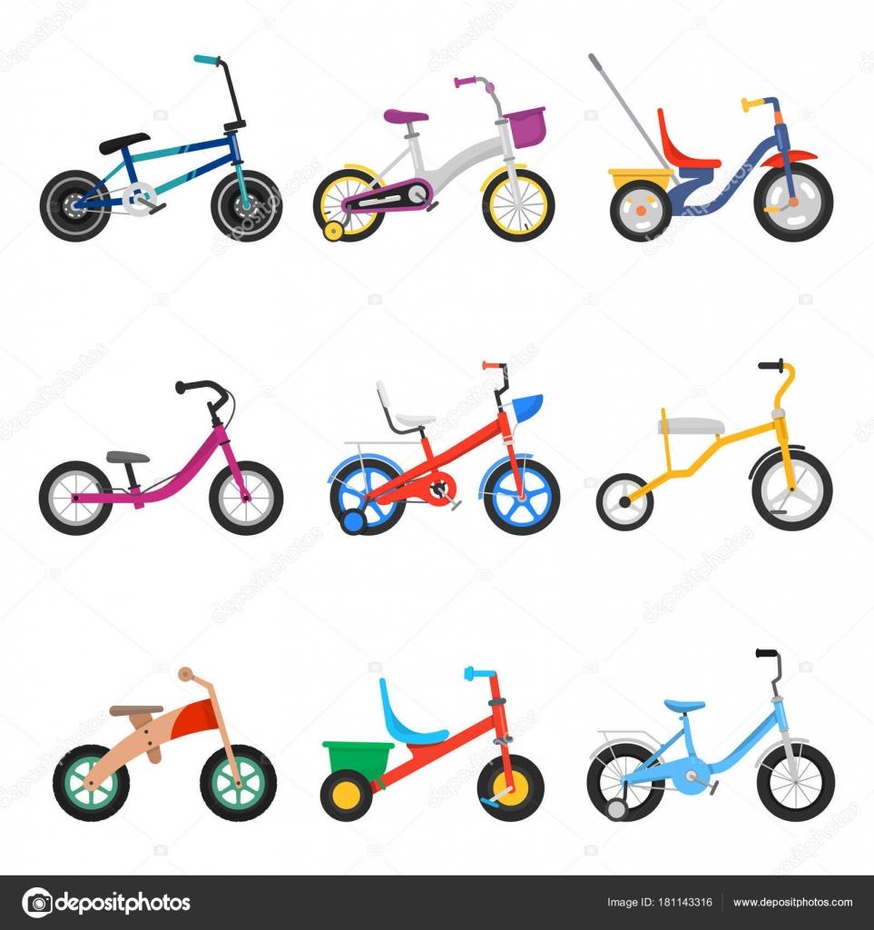 Juego de bicicletas de niños — Archivo Imágenes Vectoriales ...