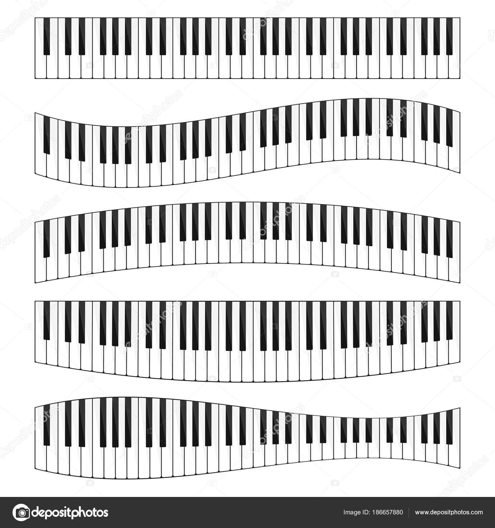 Dibujos Teclado De Piano Dibujo Conjunto De Teclado De