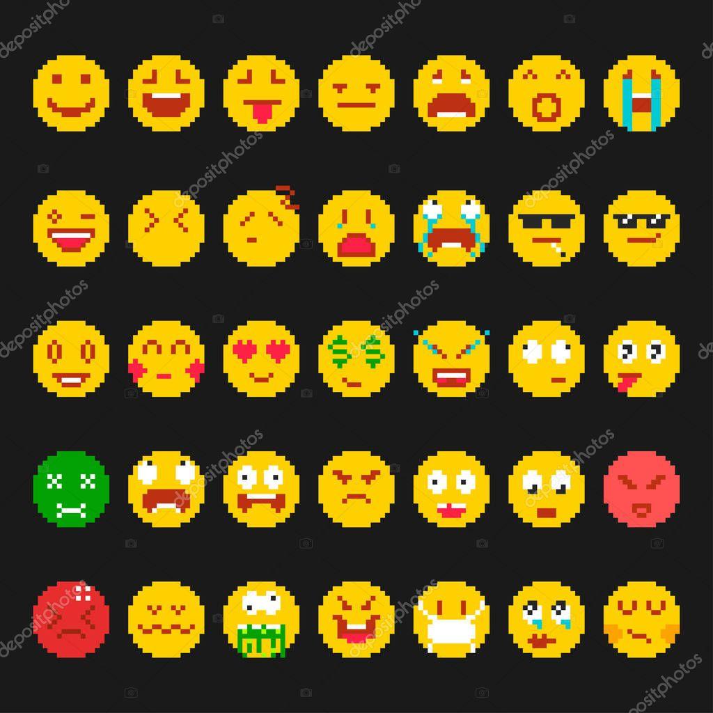 Dessin Pixel Smiley Facile