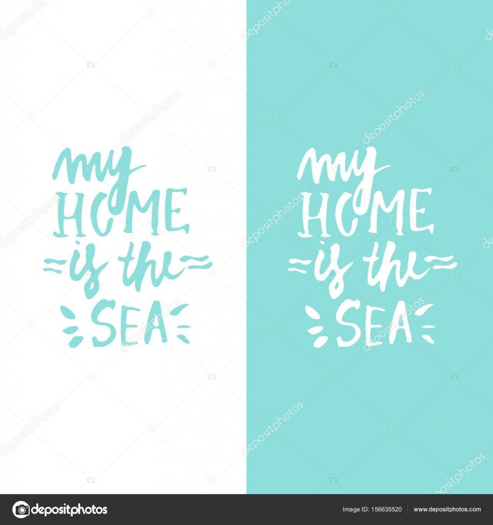 Citaten Zee : Citaten van de zee hand belettering illustratie voor uw ontwerp