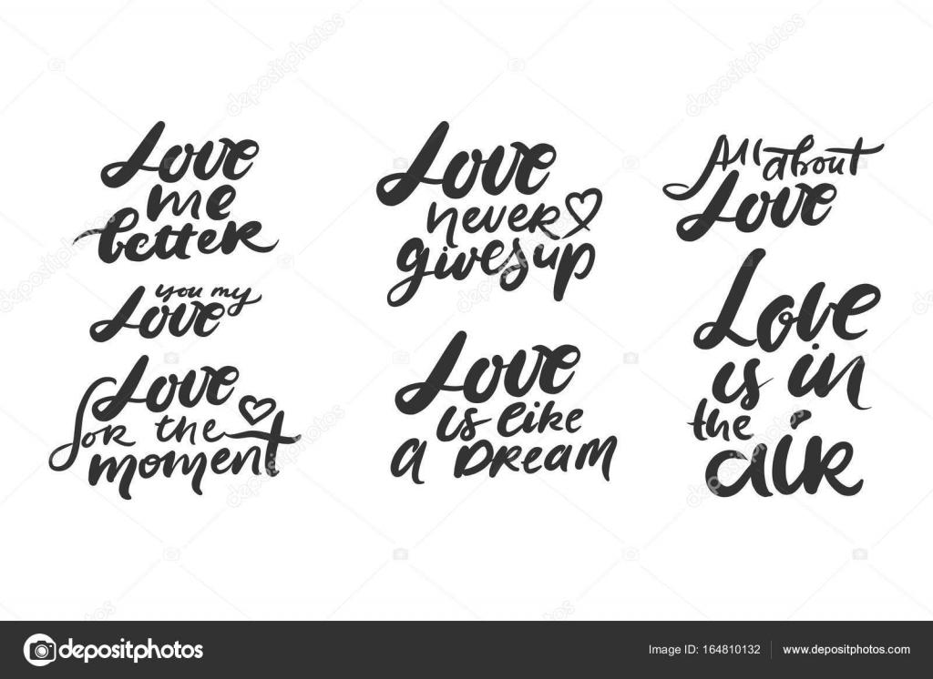 Citas Motivacionales De Amor Letras De Mano Y Tipografía