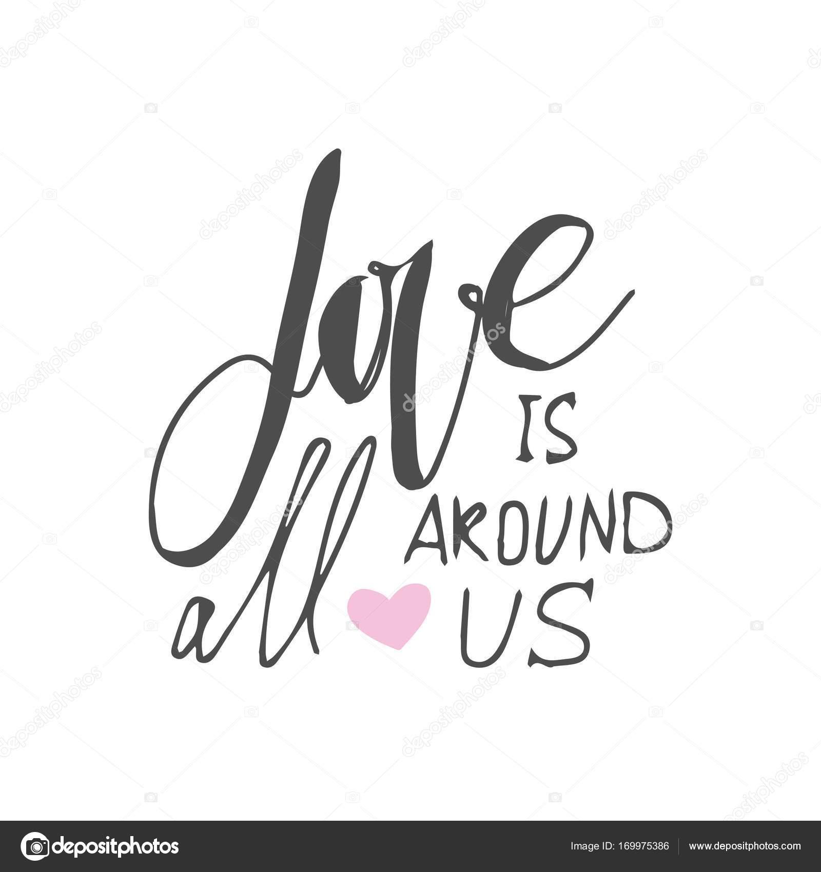 Set Di Poster Motivazionali Citazioni Sull Amore Mano