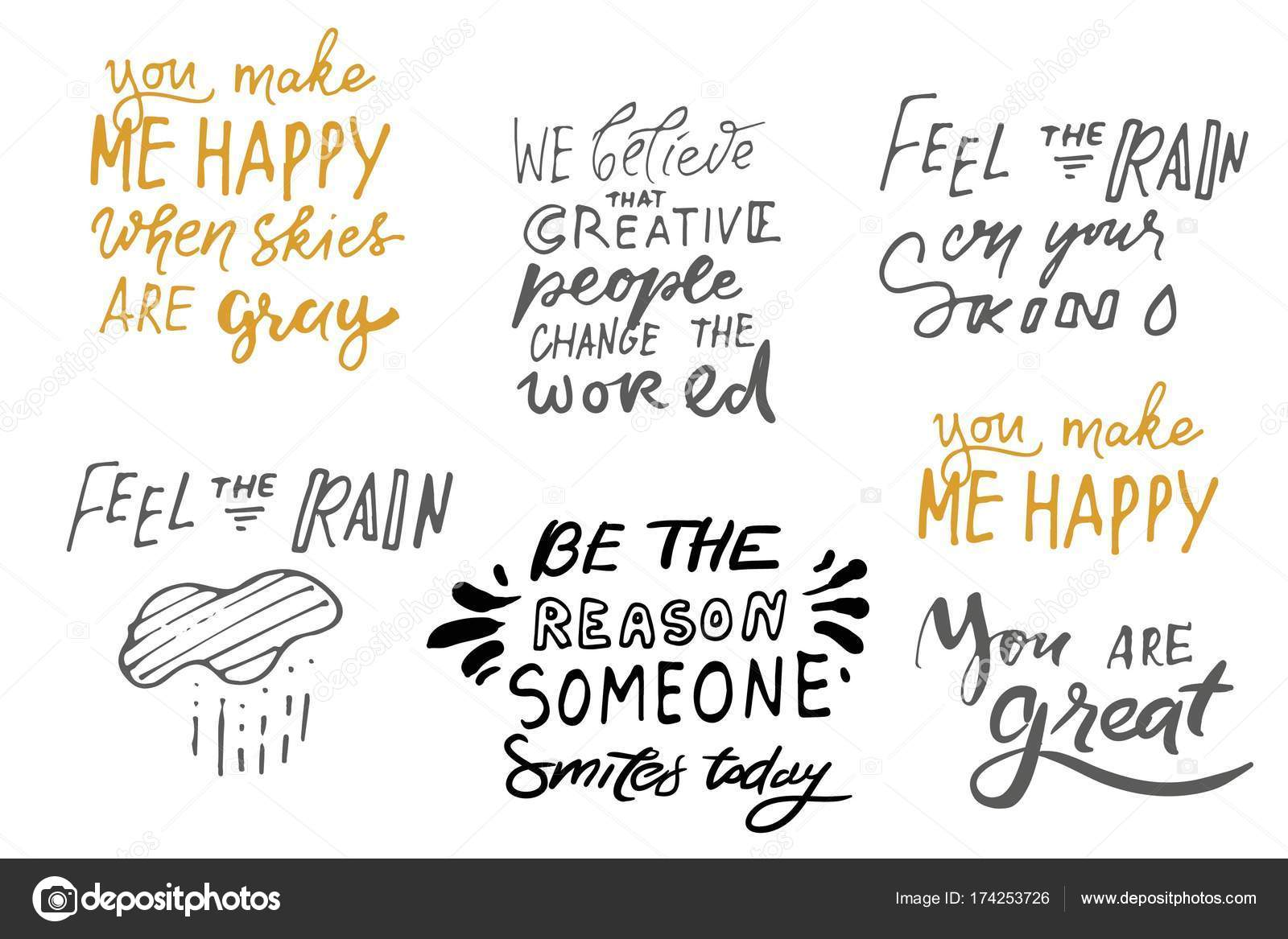 Attractive Quote Poster, Inspirational Words, Motivate Saying. Feel The Rain On Your  Skin. Be The Reason Someone Smiles Today.You Make Me Happy When The Skies  Are Gray ...