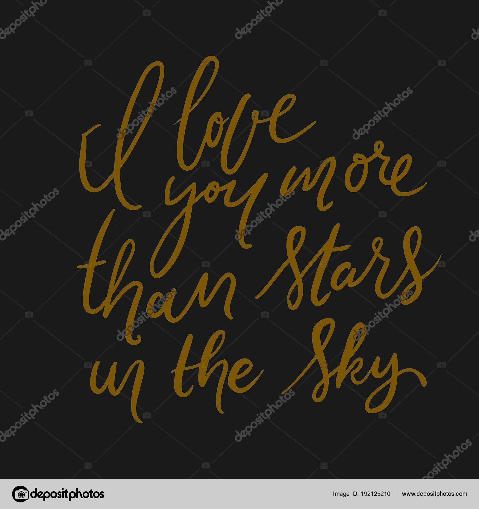 Me Encanta Más Que Estrellas En El Cielo Vector De Stock