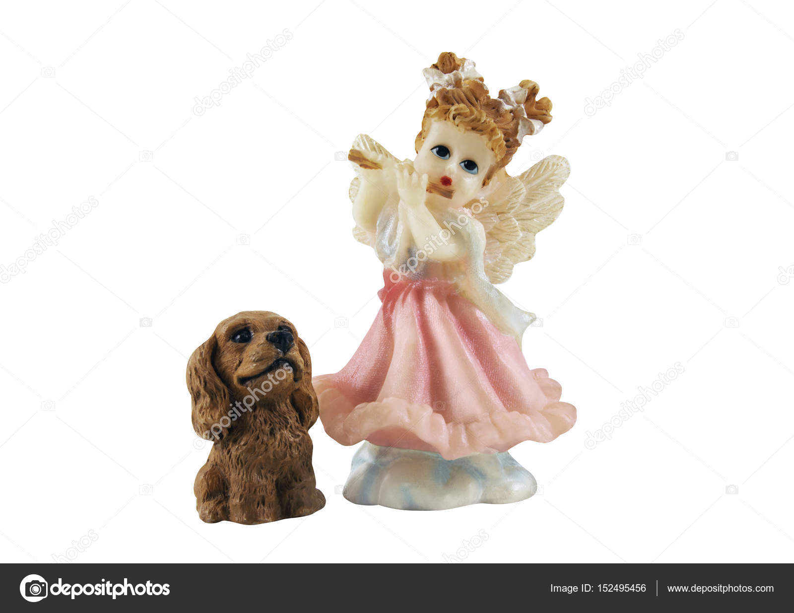 Angel girl with puppy toys photo — Stock © syberianmoon