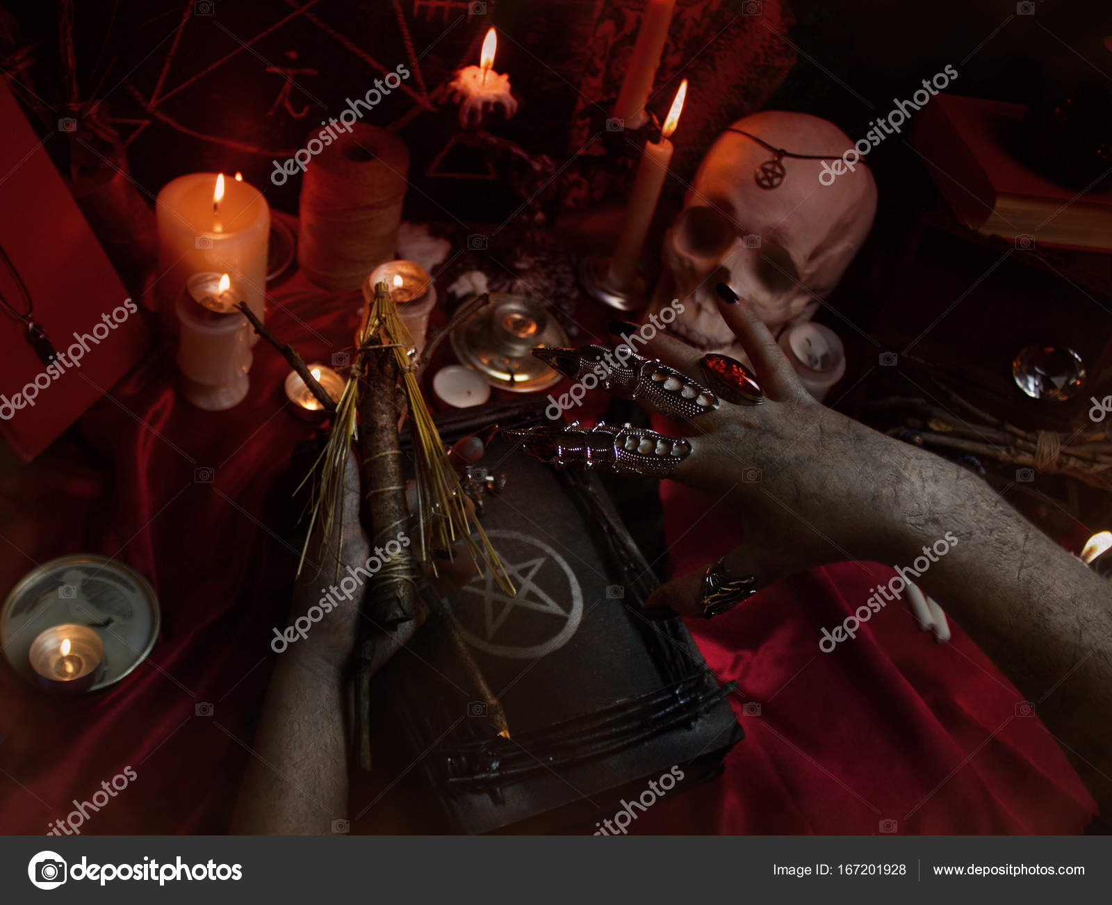 Pictures: ritual | Black magic ritual with Voodoo doll