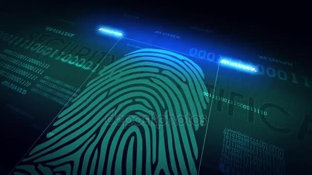 systém skenování otisku prstu - biometrické bezpečnostní zařízení