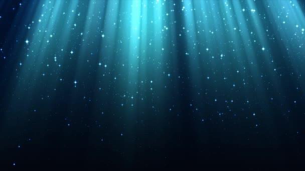 Sugarai light, isteni radiance, ragyog, éjszaka ragyogó csillagos ég, varrat nélküli hurok a kék háttér