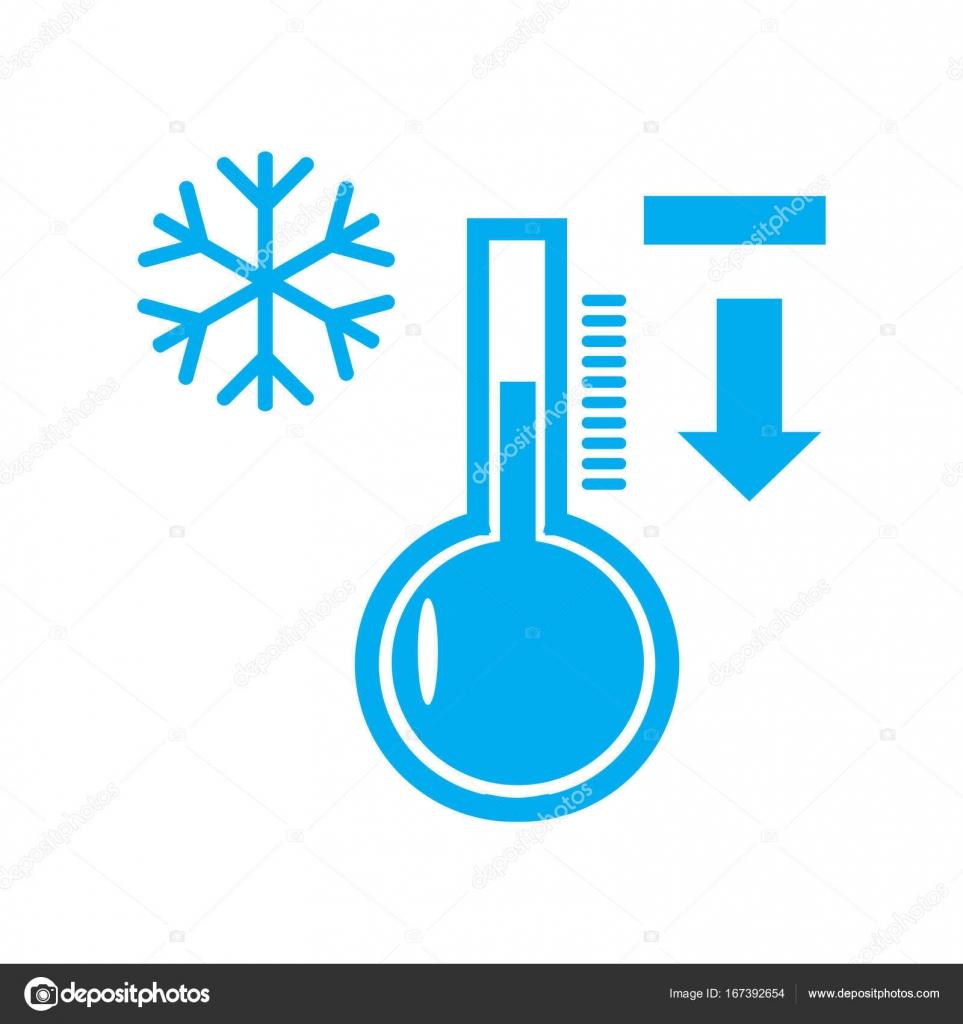 8d84df527 Design de baixa temperatura do termómetro frio gelo inverno, o ponteiro de  ícone é — Vetor de sergei15426378sergeev  ...