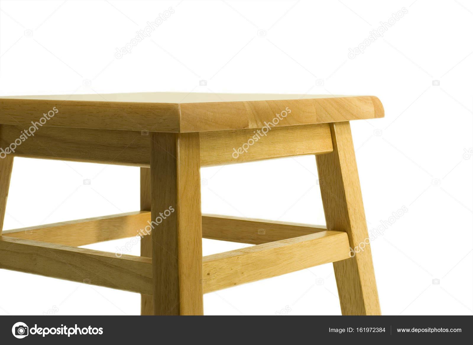 Sgabello in legno isolato u foto stock foto toch