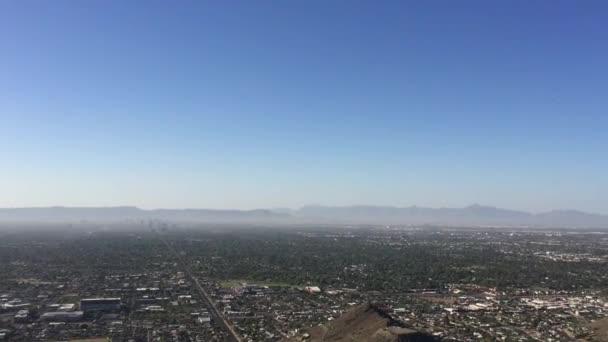 Nagyobb Főnix Metro területén más néven Arizona völgye a nap nézett-ból Észak-hegyi Park túraútvonalak
