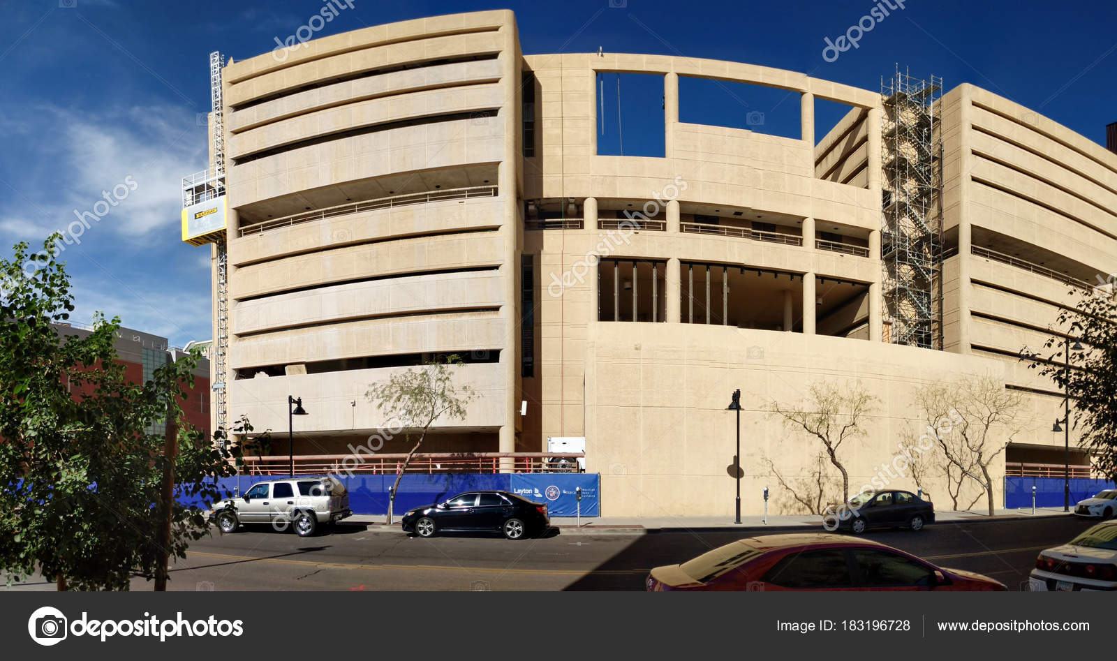 Phoenix az usa january 30 2018 reconstruction of former jail house into modern business offices at jackson street in phoenix downtown next to 4th