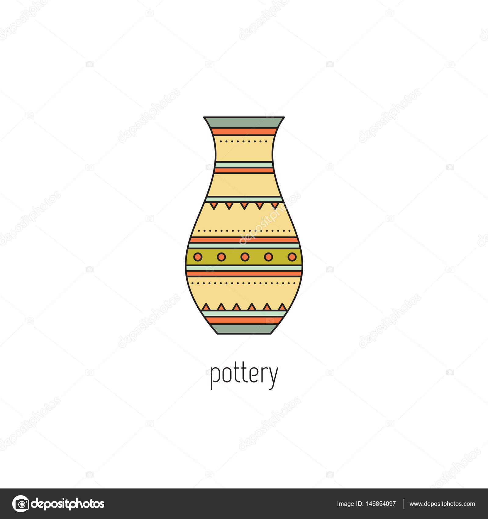 icône de ligne poterie — Image vectorielle Julia_Khimich © #146854097