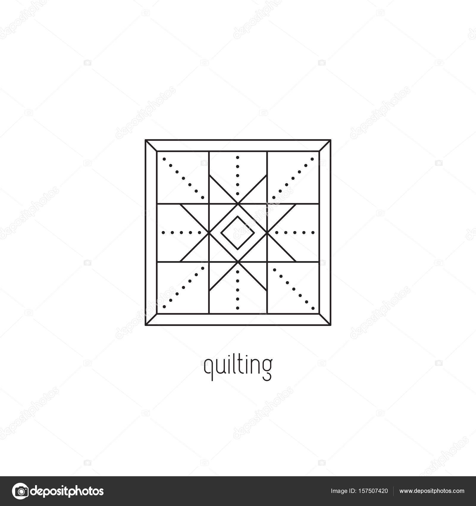 Icono de línea de acolchado — Vector de stock © Julia_Khimich #157507420