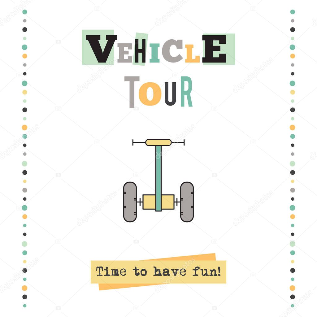 Vehicle tour banner