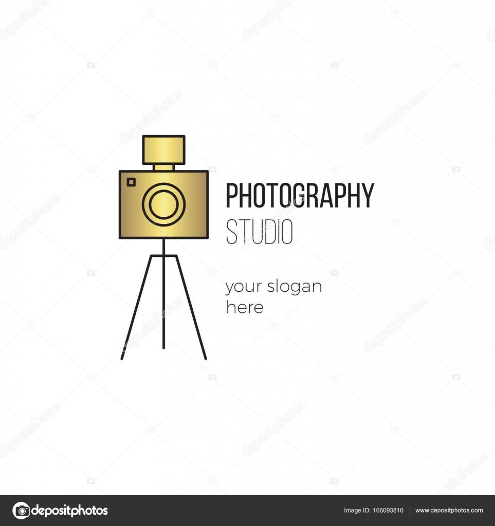 Fotografie-Linie Logo Vorlage — Stockvektor © Julia_Khimich #166093810
