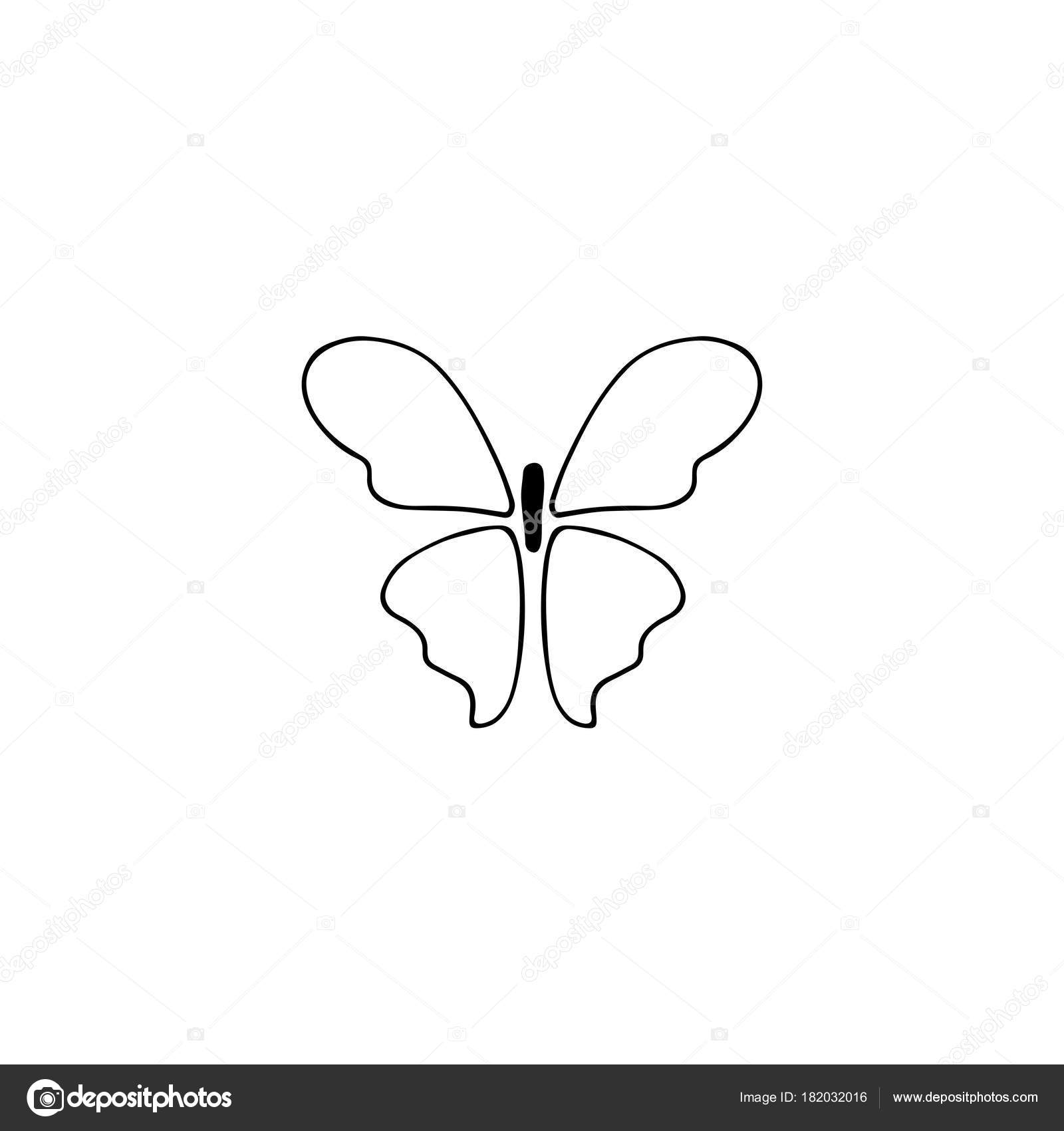 Butterfly logo element stock vector juliakhimich 182032016 vector hand drawn object butterfly silhouette feminine logo element romantic clipart for business branding and identity black on white isolated symbol biocorpaavc Image collections