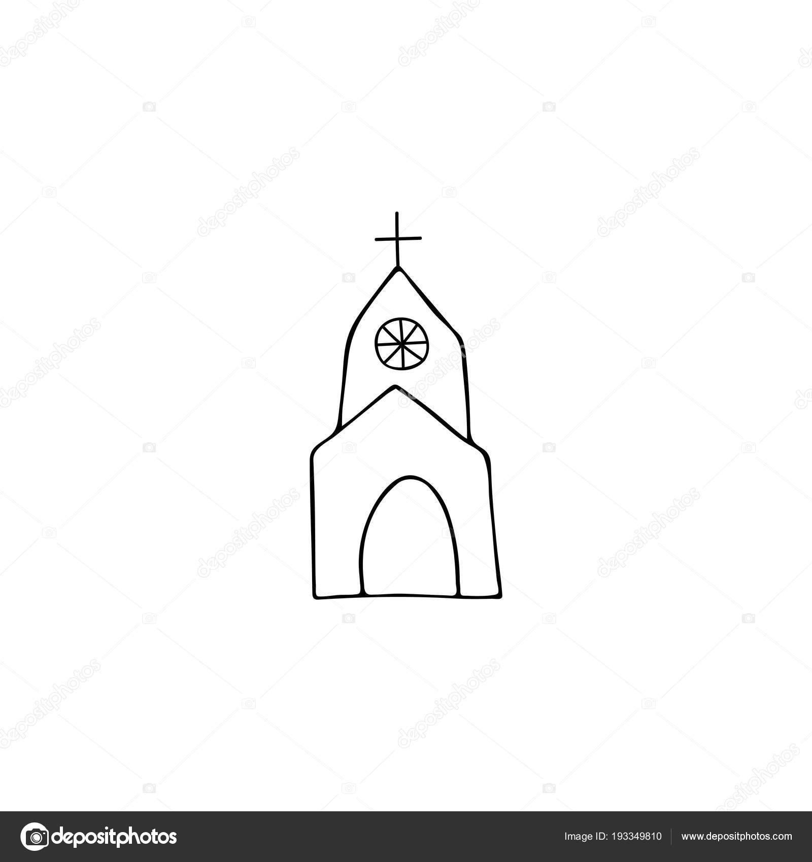 Kirche Logo Element Stockvektor C Julia Khimich 193349810