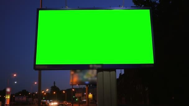a Billboard With a Green Screen