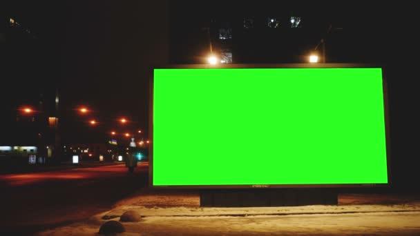 Billboard s zeleným plátnem ulicích
