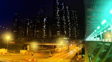 The Evening Streets of Hong Kong. Time Lapse.