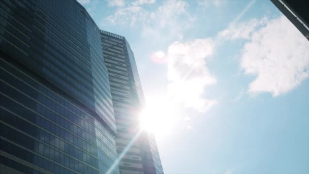 the Bright Sun Between the Skyscrapers