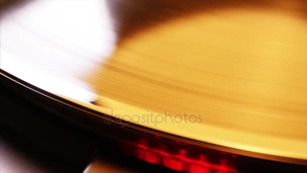 Vinil-rekord az Rotating.Close Up