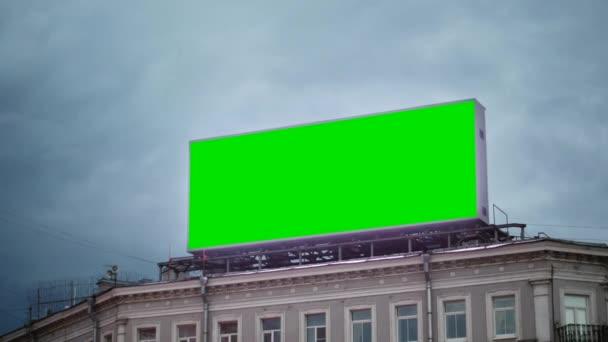 Billboard s zeleným plátnem