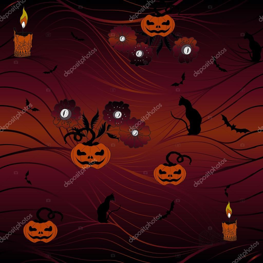 Halloween Gebruiken.Seamless Vector Background Halloween Stockvector