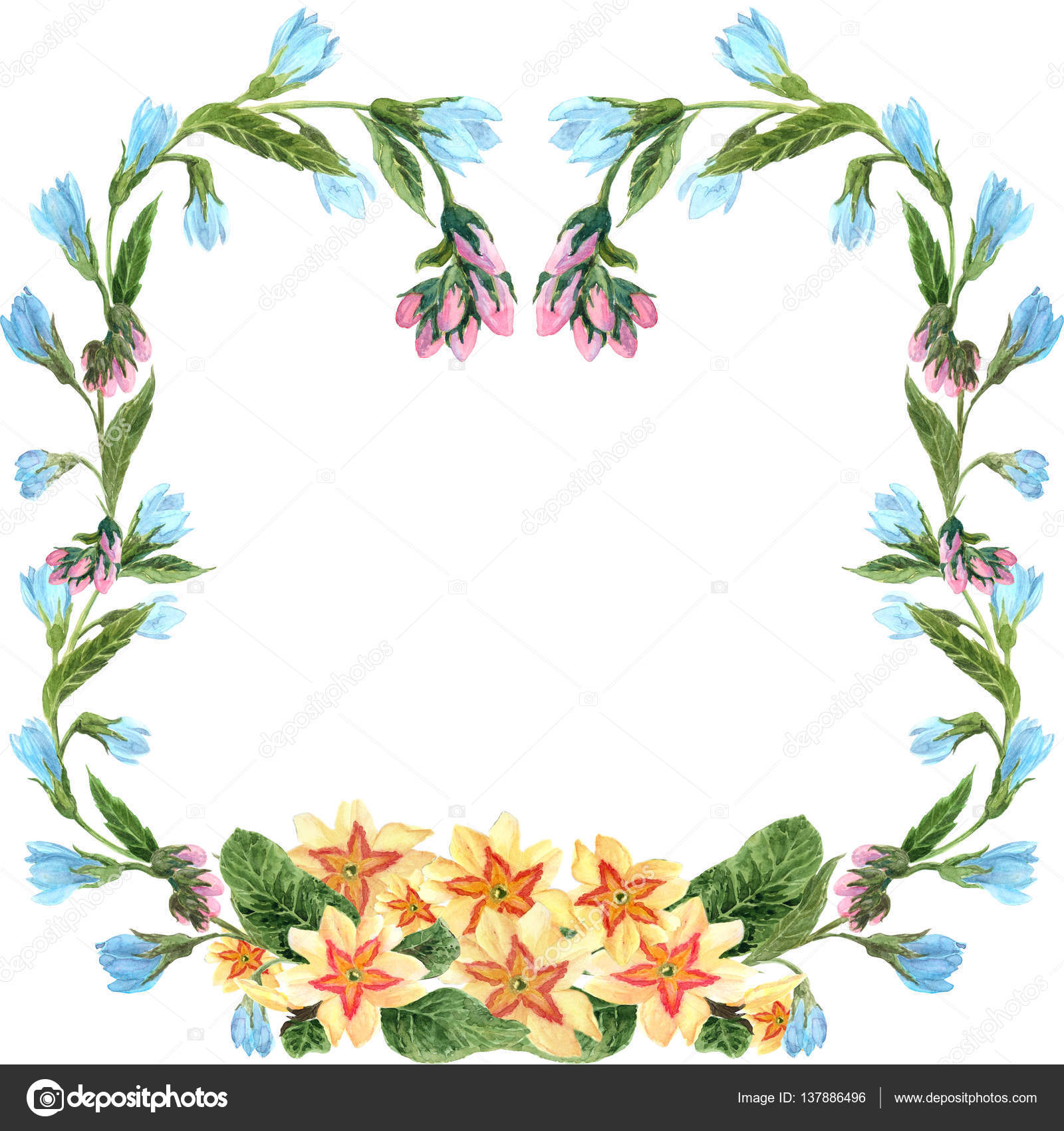 Spring flowers decorative frame stok foto gvinevera88 137886496 spring flowers decorative frame stok fotoraf mightylinksfo