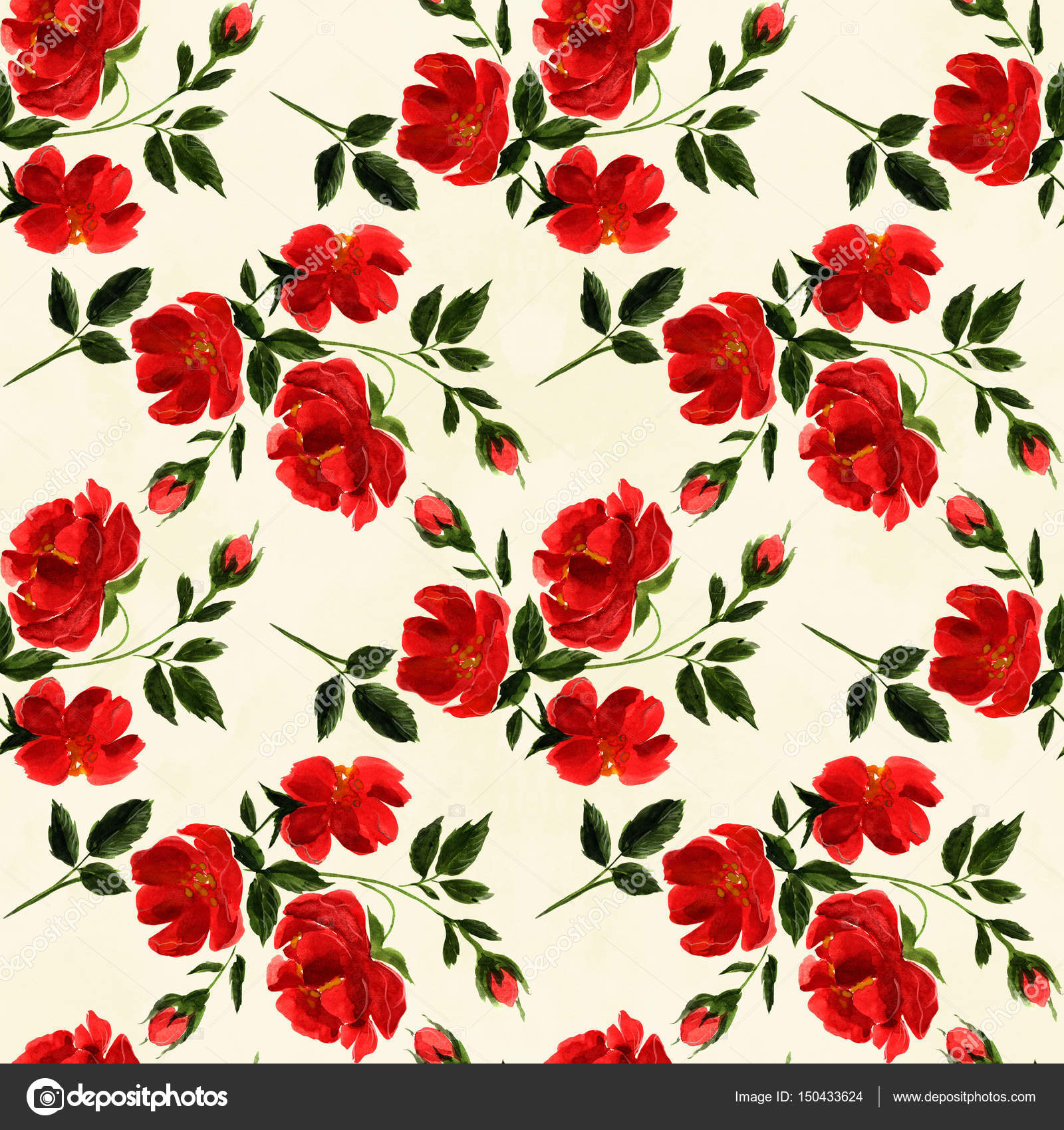Flowers. Abstract Wallpaper With Floral Motifs. Seamless