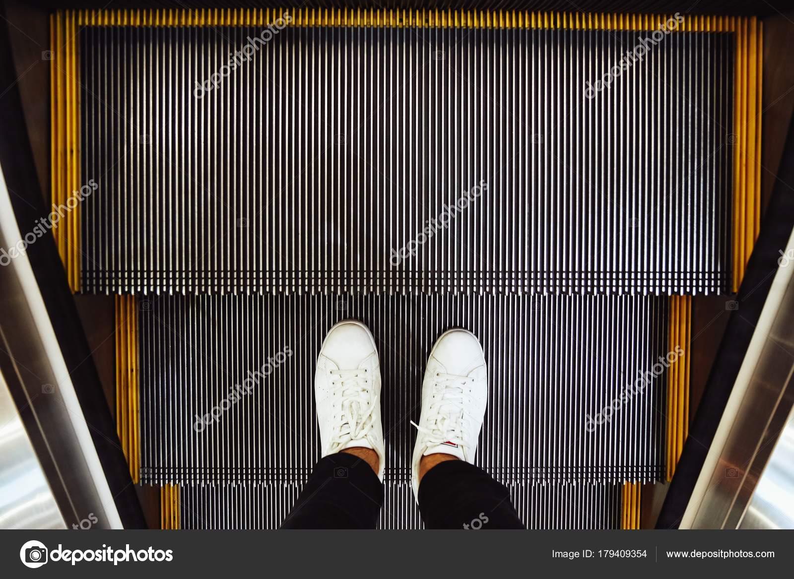 Zapatillas Selfie Escalera Pasos Hombre Blancas Zapatos Pies 6pI6wCqx