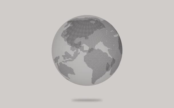 Animation of earth globe model