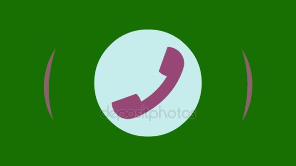 Phone ring icon animation.Animation Call Icon