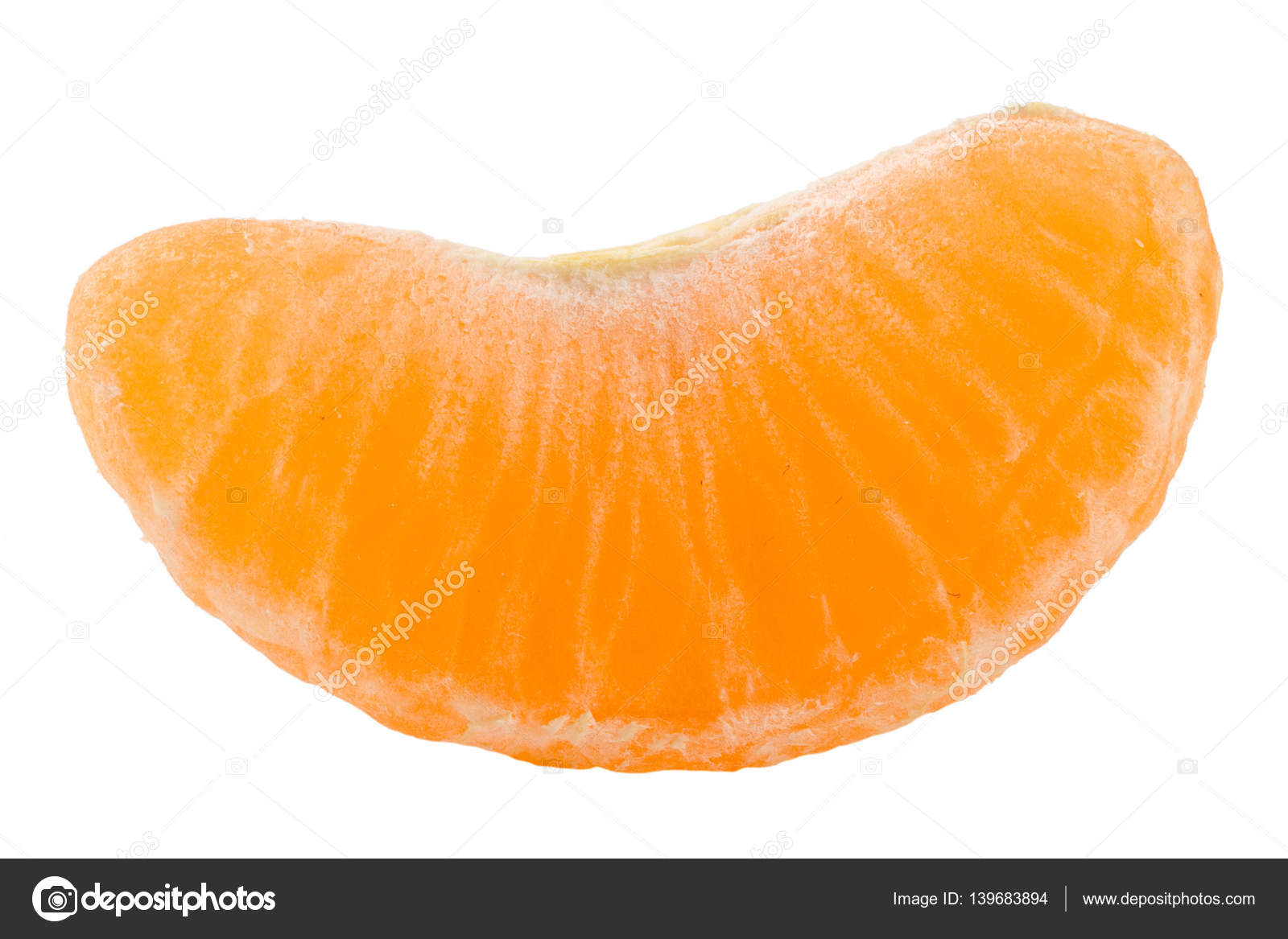 Slice Of Tangerine Isolated On White Background Stock Photo