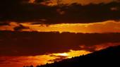 krásný západ slunce obloha s mraky